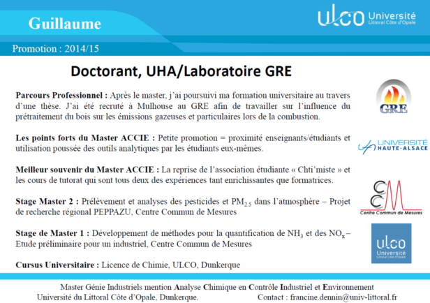Témoignage Master Chimie Guillaume